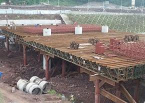 盛天为大丘片区桥梁项目提供贝雷片材料