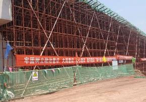 为内江过境高速四分部提供钢支撑租赁